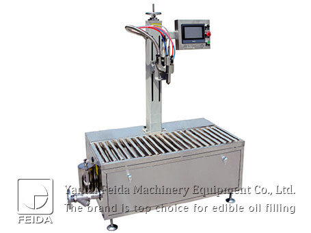 Mono-outlet edible oil filling
