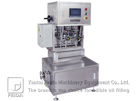 Bi-outlet edible oil filling ma