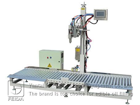 Weighing edible oil filling mac