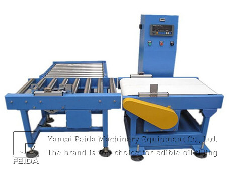 Weighing and rejecting machine
